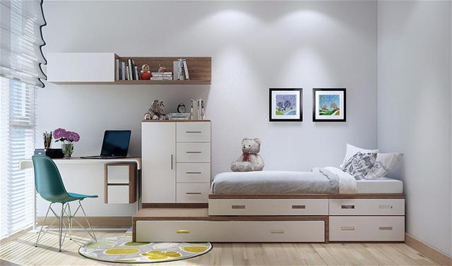 Những món đồ nội thất đơn giản, nhỏ gọn giúp ngôi nhà trông gọn gàng và thoáng đãng hơn.