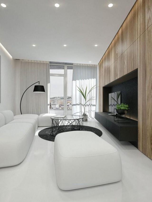 Từ bên trong xe, sơn tường, trang trí trong căn hộ chung cư nhỏ đều được sử dụng có hai tông màu đối lập đen và trắng tạo nên sự tinh tế, sang trọng đặc thù.