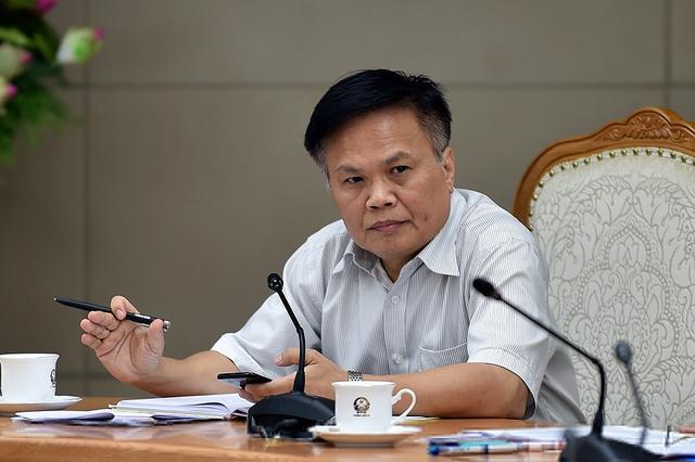 TS Nguyễn Đình Cung, Viện trưởng CIEM phát biểu tại buổi kiểm tra. - Ảnh: VGP