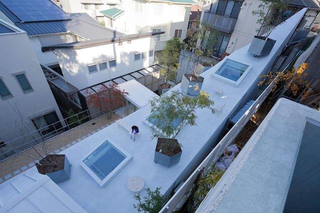 """Được kiến trúc đặc trưng ngôi nhà trông giống hệt 1 """"tảng băng trôi"""" trắng muốt."""