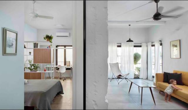 Từ 1 căn hộ cao tầng thiếu ánh sáng và bị phân chia làm nhiều phòng riêng biệt, bà mẹ trẻ đã biến nó thành không gian cuốn hút mọi ánh nhìn.