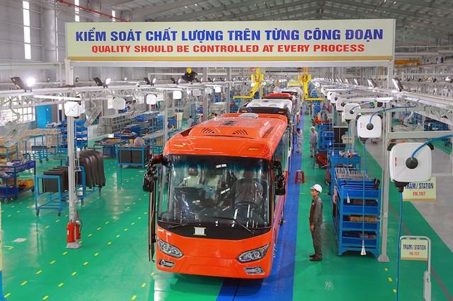 Nhà máy buýt Thaco lớn nhất Đông Nam Á chính thức được khánh thành. Ảnh: LÊ PHI