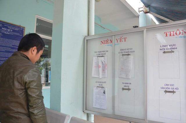 Lệnh truy nã Vũ nhôm được dán công khai tại trụ sở các UBND phường trên địa bàn TP Đà Nẵng