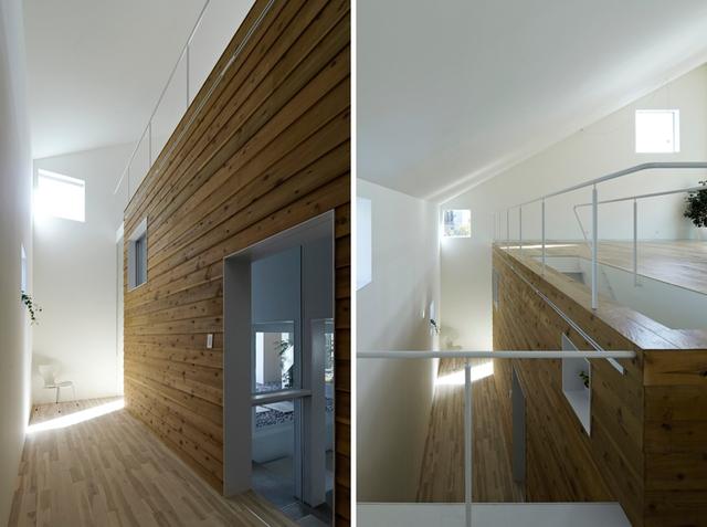 Sự kết hợp tinh tế giữa kính trong suốt, gỗ và màu sơn sáng giúp cho ngôi đã thoáng càng trở nên sáng hơn.