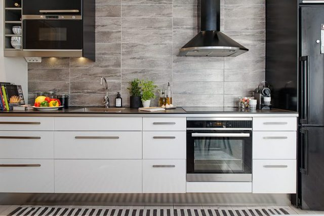 Nhà bếp với những thiết bị hiện đại.