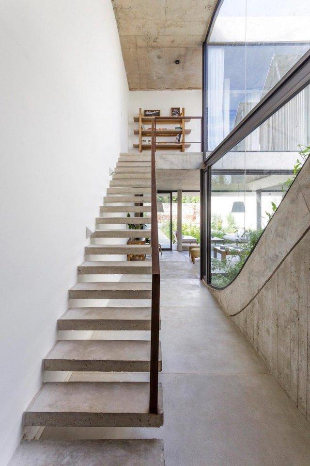 Trong ngôi nhà mọi khu vực công dụng đều được tính toán để tận dụng tối đa năng lượng mặt trời.