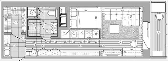 Sơ ồ kiến trúc tất cả không gian căn hộ chung cư.