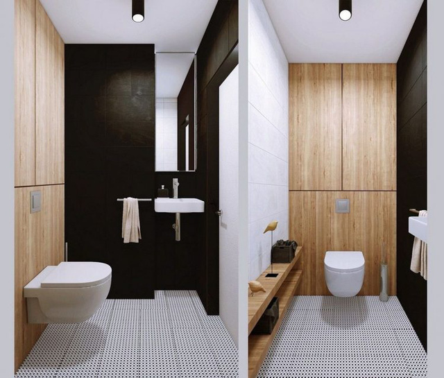 Khu WC sạch thoáng và được thiết kế riêng biệt hoàn toàn cạnh nhà tắm.