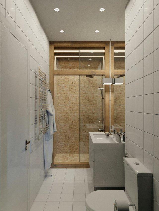 Nhà vệ sinh tuy nhỏ nhưng được thiết kế vô cùng hiện đại.
