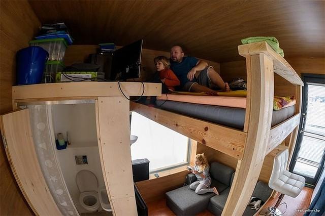 Và đây là không gian nghỉ ngơi của cả gia đình.