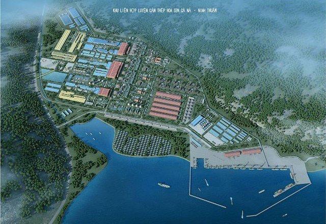 Hình ảnh đồ hoạ về dự án thép Cà Ná