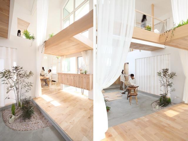 Với tổng diện tích sàn 132m2, toàn bộ không gian chức năng trong nhà được bố trí linh hoạt với tầng 1 là phòng tắm, phòng ngủ, phòng khách, phòng ăn và nhà bếp.