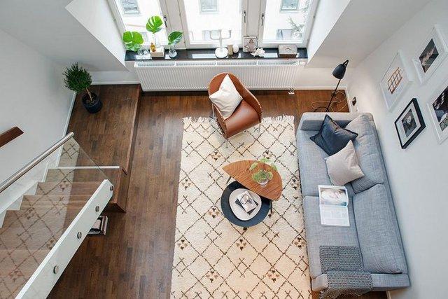 Với lợi thế trần cao, căn hộ cao tầng nhỏ bỗng chốc rộng thênh thang nhờ biện pháp kiến trúc thêm gác xép, tăng thêm diện tích sử dụng.