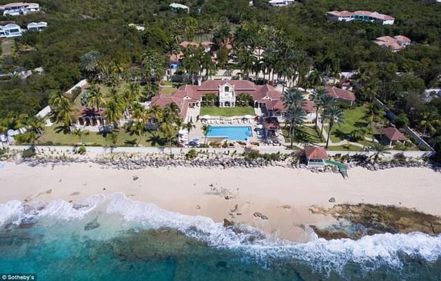 Căn villa từng là nơi nghĩ dưỡng tuyệt đẹp có giá thuê đắt đỏ nhất khu vực. Ảnh: Sothebys
