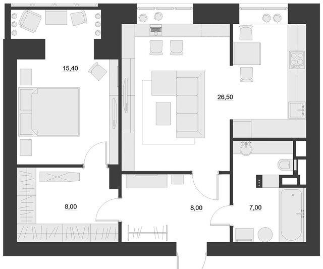 Sơ đồ bố trí tất cả căn hộ chung cư.