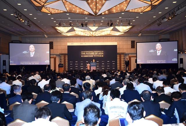 Quang cảnh Hội nghị Tương lai châu Á. Ảnh: VGP/Quang Hiếu