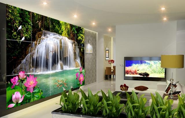 Bức tranh tạo không gian rộng rãi, giúp con người có cảm giác thư thái như hòa mình giữa môi trường xung quanh tươi đẹp.