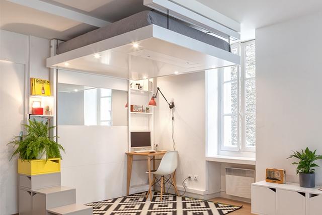 Việc thiết kế theo chiều thẳng đứng của BedUp giúp tận dụng tối đa mọi khoảng không nhỏ bên dưới giường.