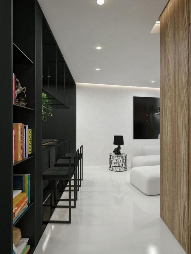 Có thể nói trắng và đen là hai gam màu căn bản nhất không bao giờ lỗi thời trong thiết kế thiết kế nhà.