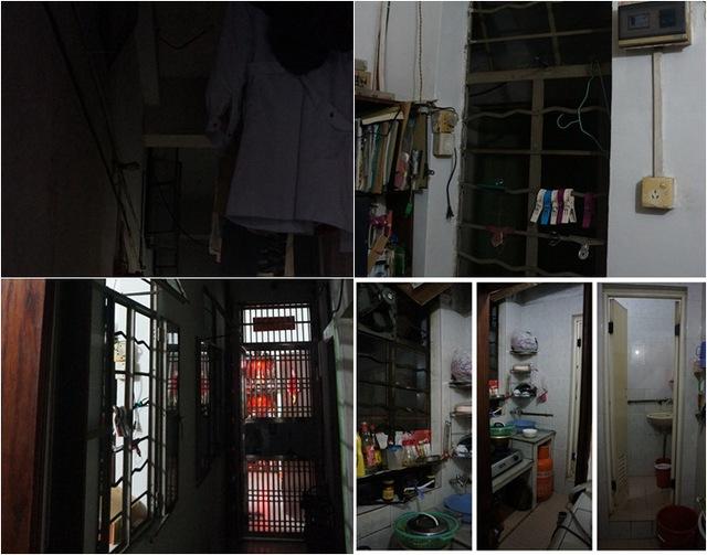 Ngôi nhà nằm trong một con hẻm sâu và rộng chỉ 27m2. Nhà chỉ có 1 phòng ngủ nhỏ cho người già, gác xép được tận dụng làm nơi nghỉ ngơi của 3 người còn lại trong gia đình nên khá chật.