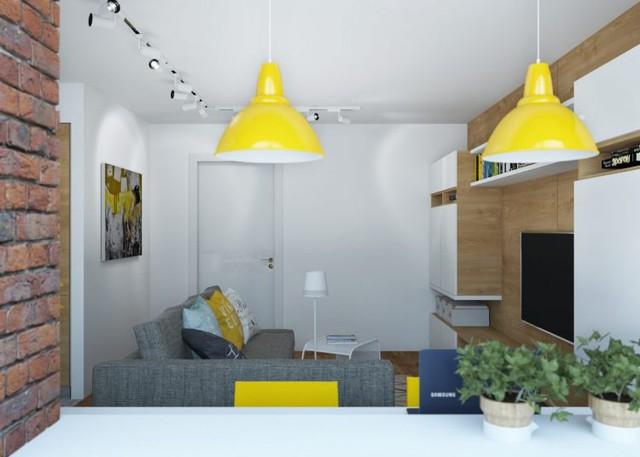 Không gian phòng khách còn được kiến trúc tiện nghi có hệ tủ gỗ nhiều ngăn làm hài lòng nhu cầu trũ đồ của chủ nhà.