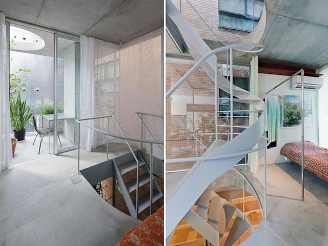 Không gian nghỉ ngơi trên các tầng được thiết kế đơn giản.