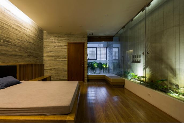 Không gian nghỉ ngơi các tầng trên được thiết kế hiện đại, sang trọng không khác khách sạn hạng sang.