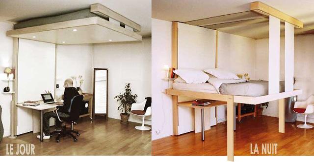 Việc sử dụng loại giường ngủ này sẽ mang đến cho nhà bạn nhiều không gian chức năng. Khi chiếc giường được cất gọn không gian bên dưới có thể dùng để tiếp khách, góc làm việc, không gian ăn uống hoặc nơi vui chơi cho trẻ.