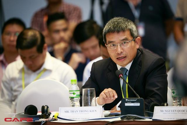 Ông Trần Trọng Kiên, Chủ tịch Tập đoàn Thiên Minh cho biết nhiều điểm số của du lịch Việt Nam đang nằm chót bảng. (Ảnh Thành Đạt)