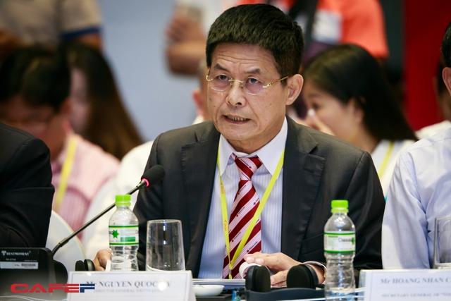 Tổng giám đốc Viettravel - Nguyễn Quốc Kỳ là đại diện khu vực tư nhân tham gia thảo luận chủ đề Du lịch - Tháo gỡ điểm nghẽn để tạo đà đột phá.