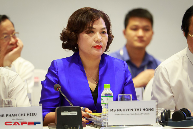 Ở hội nghị này, đại diện Ngân hàng Nhà nước tham dự là bà Nguyễn Thị Hồng – Phó Thống đốc.