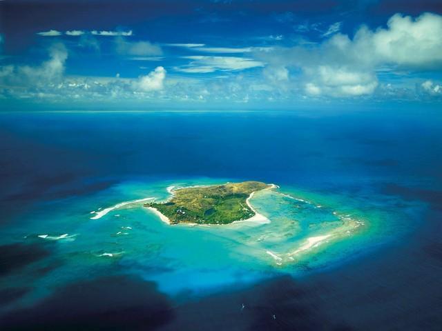 Hòn đảo Necker Island đẹp như trong mơ.