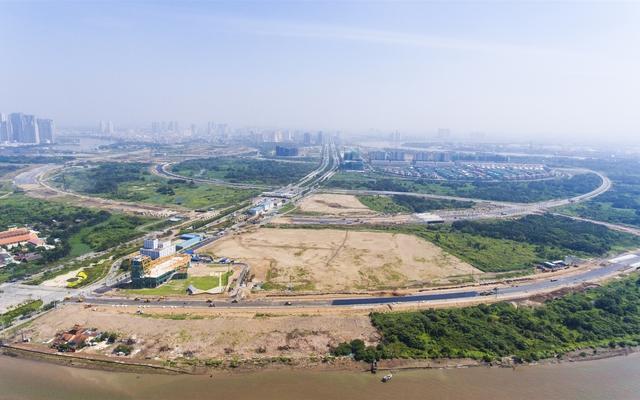 Dự án 4 tuyến đường quanh Thủ Thiêm đang được xây dựng hoàn thiện
