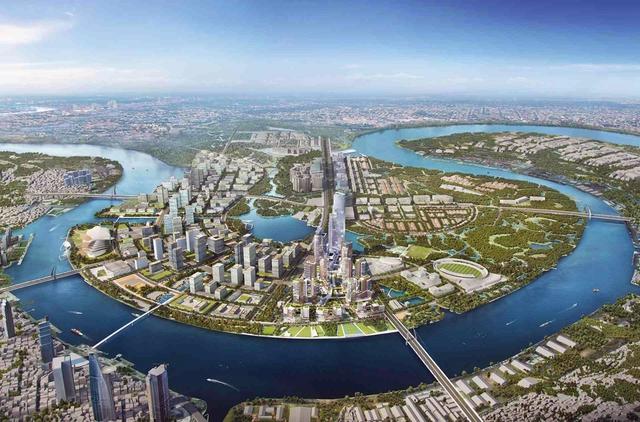 Khu đô thị Thủ Thiêm nằm ở bán đảo Thủ Thiêm (quận 2, TP HCM), đối diện quận 1 qua bờ sông Sài Gòn, có tổng diện tích 657 ha. Được chính phủ phê duyệt từ năm 1996, bán đảo này được kỳ vọng trở thành trung tâm tài chính, thương mại mang tầm cỡ quốc tế và được kỳ vọng là đô thị đẹp nhất khu vực Đông Nam Á.
