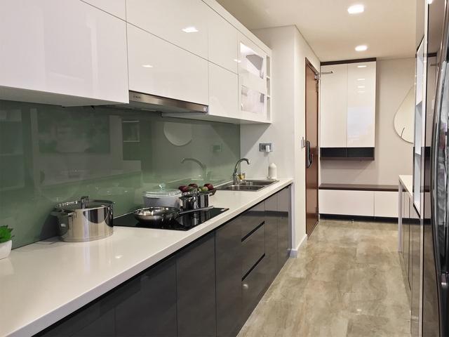 Thiết bị tủ bếp được chủ đầu tư chọn lọc bằng 1 số hãng nổi tiếng và danh tiếng trên phân khúc.