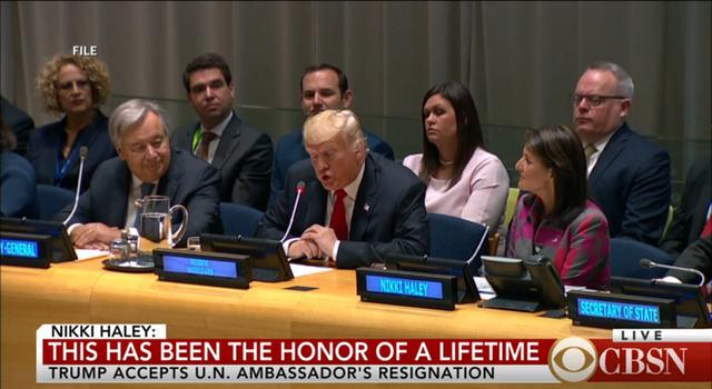 NÓNG: Đại sứ Mỹ ở Liên Hợp Quốc Nikki Haley từ chức - Ảnh 1.