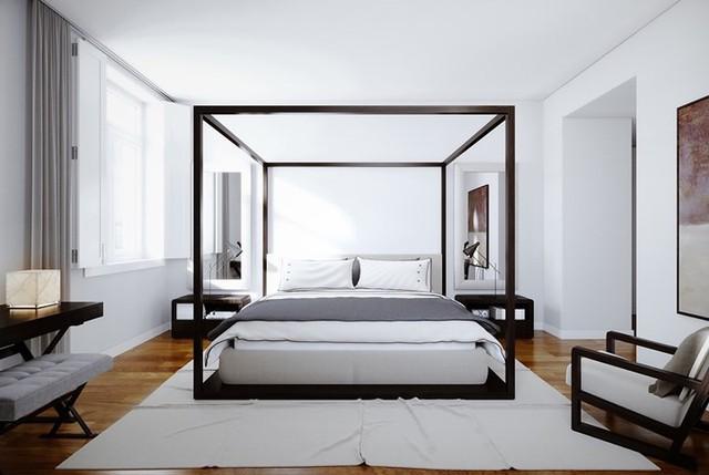 Phòng ngủ màu trắng nhẹ nhàng và thư giãn - Ảnh 3.
