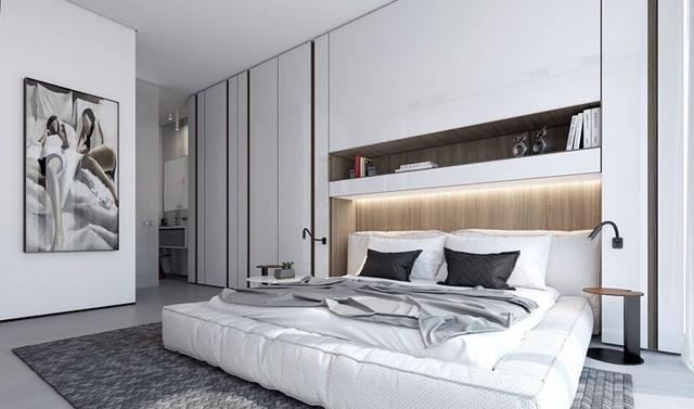 Phòng ngủ màu trắng nhẹ nhàng và thư giãn - Ảnh 5.