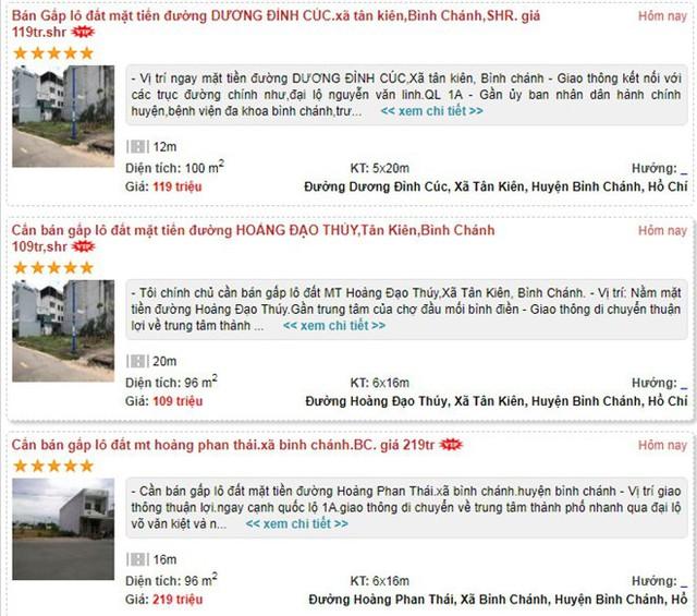 Cẩn thận trước tin tức rao bán BDS trên mạng - Ảnh 1.
