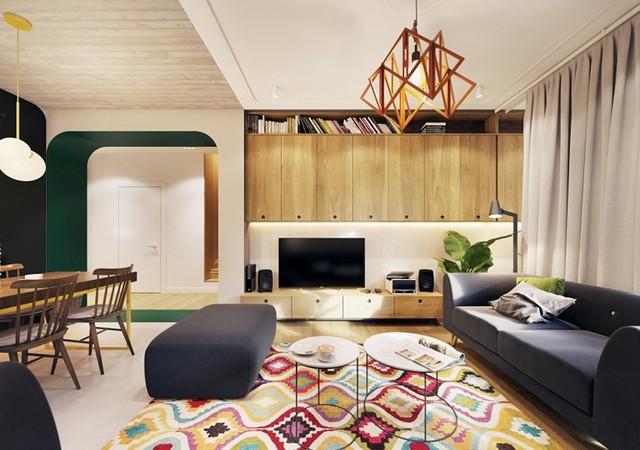 Tạo điểm nhấn ấn tượng cho ngôi nhà có màu xanh lá cây - Ảnh 2.