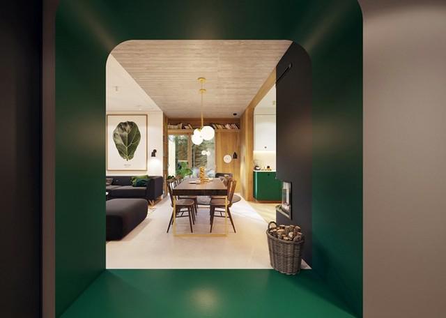 Tạo điểm nhấn ấn tượng cho ngôi nhà có màu xanh lá cây - Ảnh 6.