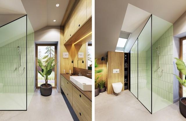 Tạo điểm nhấn ấn tượng cho ngôi nhà có màu xanh lá cây - Ảnh 9.