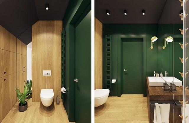 Tạo điểm nhấn ấn tượng cho ngôi nhà có màu xanh lá cây - Ảnh 10.