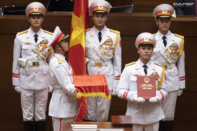 Những hình ảnh ấn tượng trong Lễ tuyên thệ nhậm chức của Chủ tịch nước Nguyễn Phú Trọng - Ảnh 3.