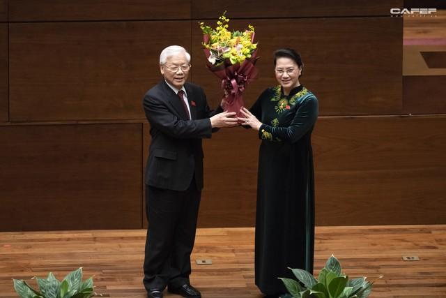 Những hình ảnh ấn tượng trong Lễ tuyên thệ nhậm chức của Chủ tịch nước Nguyễn Phú Trọng - Ảnh 10.