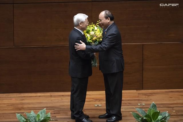 Những hình ảnh ấn tượng trong Lễ tuyên thệ nhậm chức của Chủ tịch nước Nguyễn Phú Trọng - Ảnh 12.