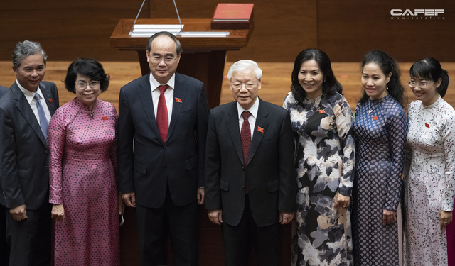 Những hình ảnh ấn tượng trong Lễ tuyên thệ nhậm chức của Chủ tịch nước Nguyễn Phú Trọng - Ảnh 15.