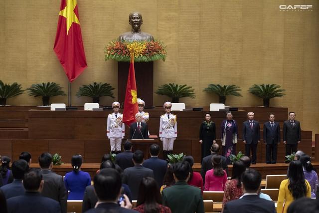 Những hình ảnh ấn tượng trong Lễ tuyên thệ nhậm chức của Chủ tịch nước Nguyễn Phú Trọng - Ảnh 6.