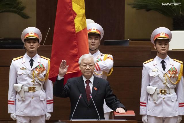 Những hình ảnh ấn tượng trong Lễ tuyên thệ nhậm chức của Chủ tịch nước Nguyễn Phú Trọng - Ảnh 7.