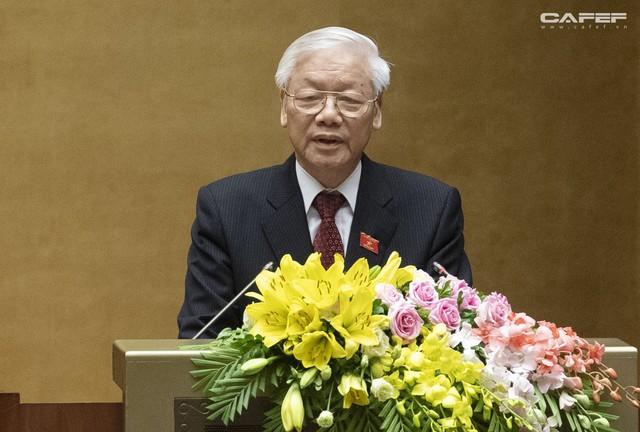 Những hình ảnh ấn tượng trong Lễ tuyên thệ nhậm chức của Chủ tịch nước Nguyễn Phú Trọng - Ảnh 9.